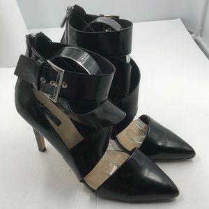 Zara Trafaluc Blk Zipper Buckle Heels EU 40 US 10